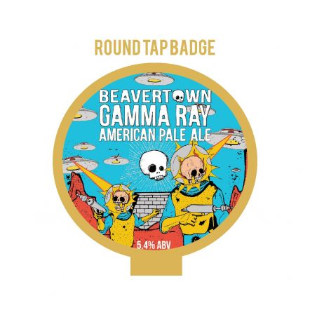 Beavertown Gamma Ray Tap Badge