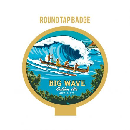 Kona Brewing Co Big Wave Tap Badge