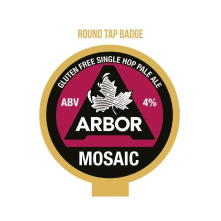Arbor Mosaic tap badge