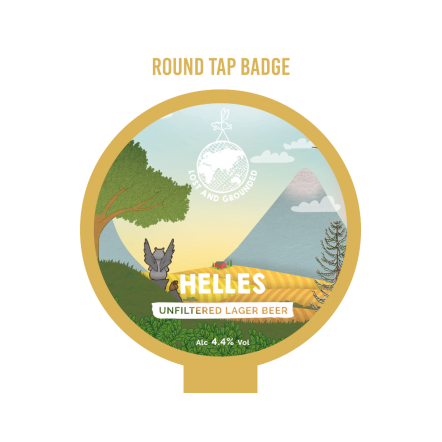 Lost and Grounded Helles Tap Badge