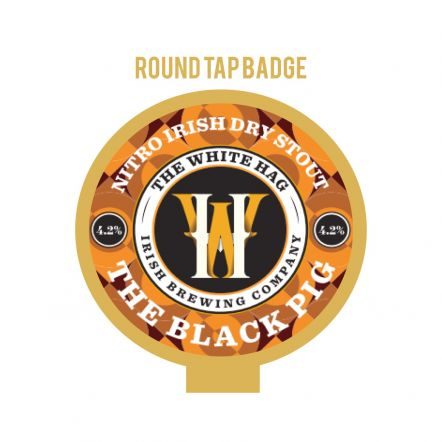 White Hag Black Pig Tap Badge