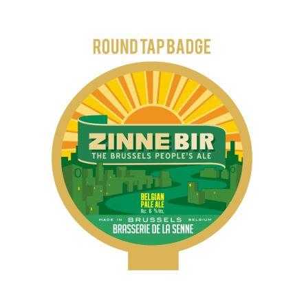 De la Senne Zinnebir Tap badge